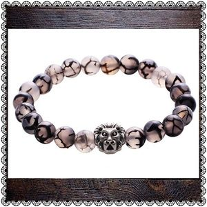 Jewelry - Dragon Vein Agate, natural stone beaded bracelet